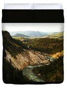 The Winding Yellowstone Duvet Cover