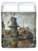 The Windmill On The Onbekende Gracht Amsterdam Duvet Cover