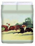 The Winning Post In Sight Duvet Cover by Henry Stull