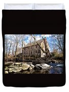 The Wissahickon Creek And Mather Mill Duvet Cover