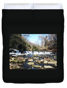The Wissahickon Creek In February Duvet Cover