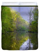 The Wissahickon Creek In The Morning Duvet Cover