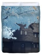 The Witch House In Infrared Duvet Cover