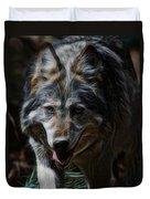 The Wolf Digital Art Duvet Cover