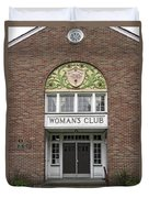 The Womans Club Bids You Welcome Duvet Cover by Daniel Hagerman