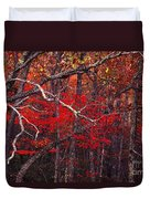 The Woods Aflame In Red Duvet Cover