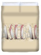 The Word Is Baseball Duvet Cover by Andee Design