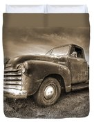 The Workhorse In Sepia - 1953 Chevy Truck Duvet Cover
