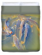 The World According To Carp Duvet Cover