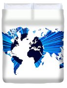 The World Map And Globe Duvet Cover
