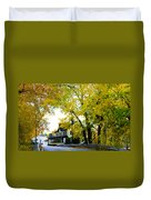 The Yardley Inn In Autumn Duvet Cover