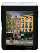 The Yellow House At The Liffey River - Dublin - Ireland Duvet Cover