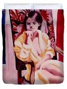 The Yellow Robe Duvet Cover