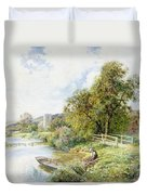 The Young Angler Duvet Cover