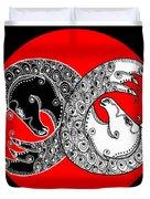 The Zen Of Horses Duvet Cover