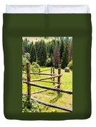 The Zig-zag Fence Duvet Cover