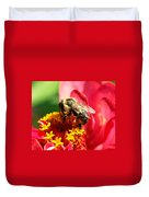 The Zinnia And The Bee Duvet Cover
