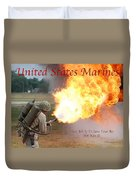 Their Job Is To Save Your Ass Usmc Duvet Cover