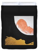 ..then The Moon Come To Kiss Good Bye... Duvet Cover