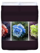 There Were Roses Triptych 2 Duvet Cover