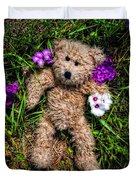 These Are For You - Cute Teddy Bear Art By William Patrick And Sharon Cummings Duvet Cover