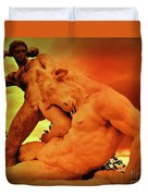 Theseus And The Minotaur Duvet Cover