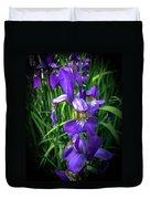 Colors Of Iris Duvet Cover