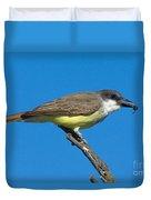 Thick-billed Kingbird Tyrannus Duvet Cover
