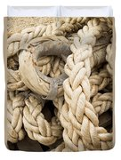 Braided Rope With Eyelet Duvet Cover