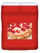 Thick Crust Peperoni Pizza Duvet Cover