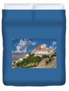 Thiksay Monastery Ladakh Jammu And Kashmir India Duvet Cover