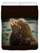Things Are Looking Up-sealion Duvet Cover