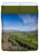 Thingvellir Iceland Duvet Cover