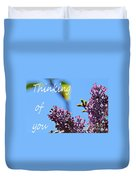 Thinking Of You - Greeting Card - Lilacs Duvet Cover