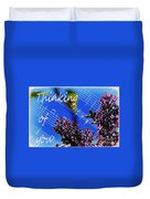 Thinking Of You  - Memories - Music Duvet Cover