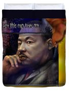 This Cup - The Reality That Was King Duvet Cover by Reggie Duffie