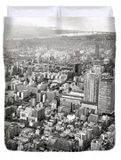 This Is Tokyo In Black And White Duvet Cover