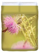 Thistle And Friend Duvet Cover