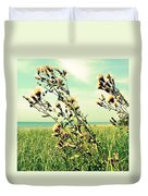 Thistle On The Beach  Duvet Cover