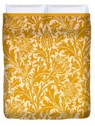 Thistle Wallpaper Design, Late 19th Duvet Cover