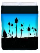 Thistles At Sunset Duvet Cover