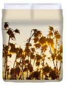 Thistles In The Sunset Duvet Cover