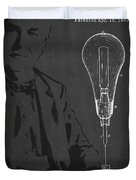 Thomas Edison Incandescent Lamp Patent Drawing From 1890 Duvet Cover