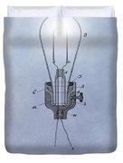 Thomas Edison Electric Lamp Patent Duvet Cover