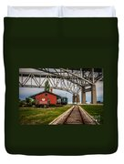 Thomas Edison Museum And Rr Track Duvet Cover