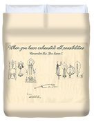 Thomas Edison Quote Duvet Cover