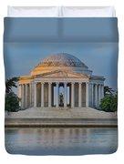 Thomas Jefferson Memorial At Sunrise Duvet Cover