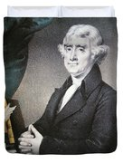 Thomas Jefferson Duvet Cover by Nathaniel Currier
