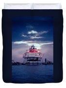 Thomas Pt.  Shoal Lighthouse Duvet Cover