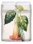 Thorn Apple Flower From Ecuador Datura Rosei Duvet Cover